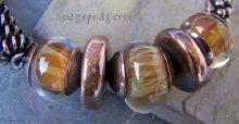 Copper Sunset Bangle Lampwork & Copper Bangle