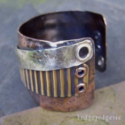 Industrial Metals Cuff Bracelet