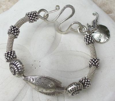 Silver Sea Sterling Silver Bangle