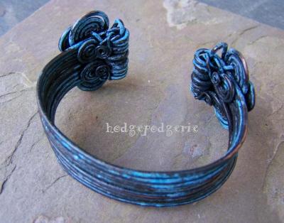 aegean copper cuff bracelet