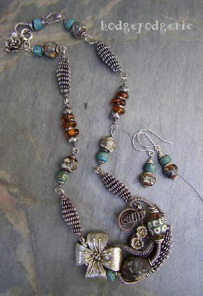 Talisman - Sterling Silver and Turquoise Necklace