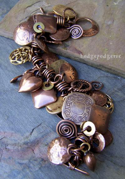 Charmed! Copper and Brass Bracelet