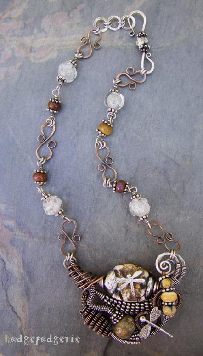 Courage Lampwork Necklace