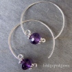 Amethyst Hoops Earrings