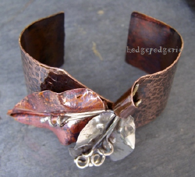 Ficus Leaf Cuff Bangle