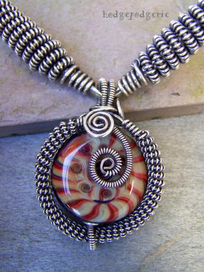 Kilimanjaro Lampwork and Silver Necklace