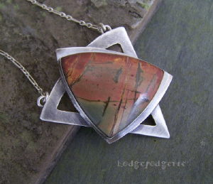 Magen David Jasper Necklace