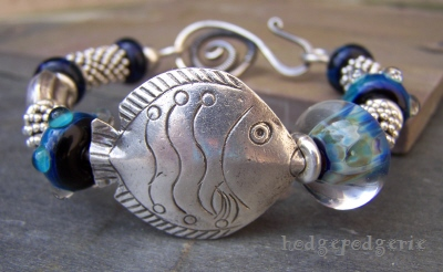 Sea Life Sterling Silver Bangle