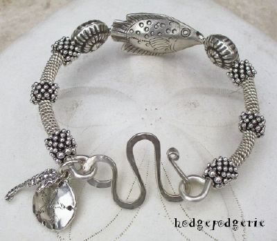Silver Sea Sterling Silver Bangle