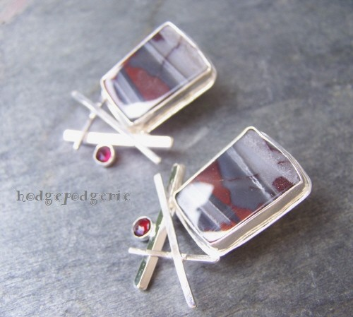 Shades of Grey Earrings
