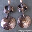 Knotty Copper Earrings