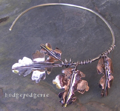 Sound of Snow Copper and Silver Necklace