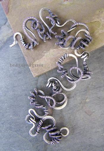 wiredoodle sterling silver bracelet