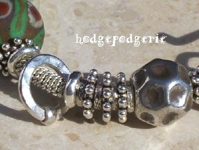 The Gobi Lampwork and Silver Bangle
