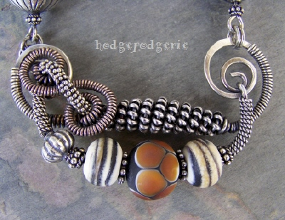 Wild!!! Mixed Wire and Lampwork Necklace