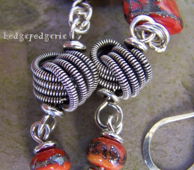 Zuri Lampwork and Silver Necklace